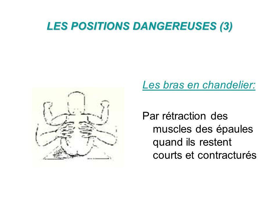 POSITIONS DANGEREUSES (4) Nuque hyper fléchie Bras en chandeliers Cuisses en « grenouille écrasée » Pieds en canard, +ou- extensions des coups de pieds