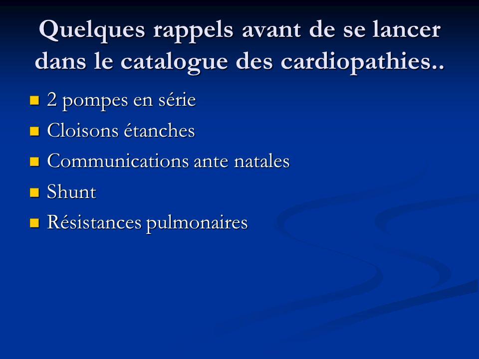 Quelques rappels avant de se lancer dans le catalogue des cardiopathies.. 2 pompes en série 2 pompes en série Cloisons étanches Cloisons étanches Comm