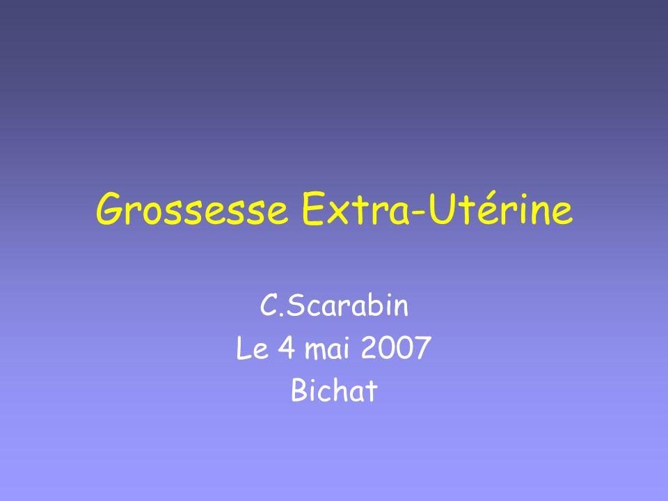 Grossesse Extra-Utérine C.Scarabin Le 4 mai 2007 Bichat