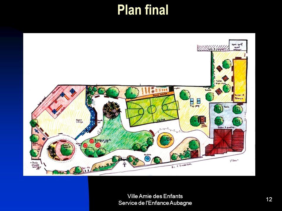 Ville Amie des Enfants Service de l Enfance Aubagne 12 Plan final