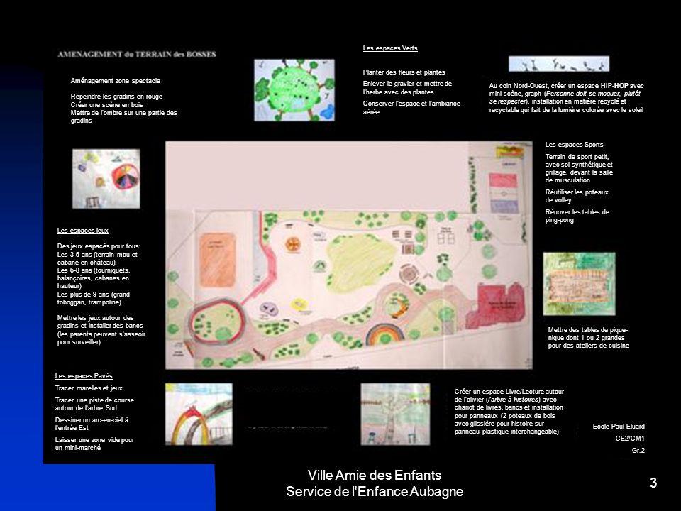 Ville Amie des Enfants Service de l'Enfance Aubagne 3 Aménagement zone spectacle Repeindre les gradins en rouge Créer une scène en bois Mettre de lomb