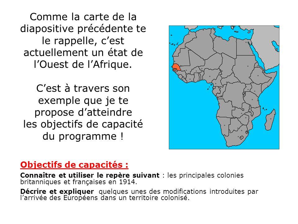 Comme la carte de la diapositive précédente te le rappelle, cest actuellement un état de lOuest de lAfrique. Cest à travers son exemple que je te prop