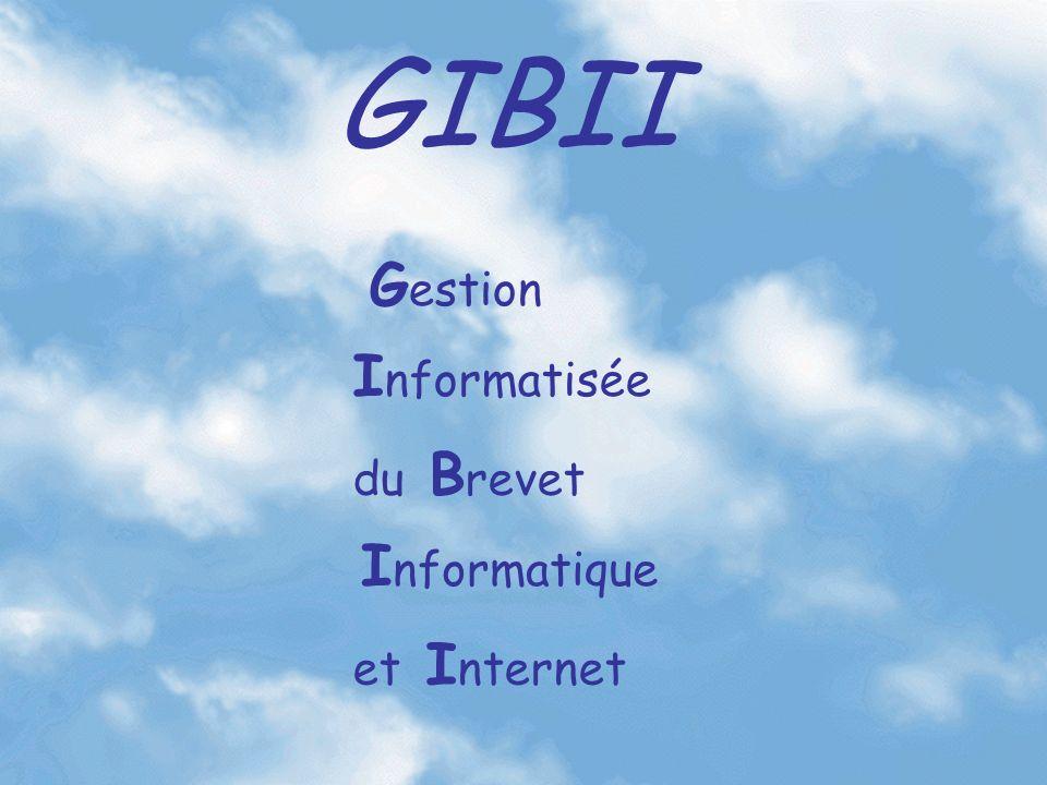 GIBII G estion I nformatisée du B revet I nformatique et I nternet
