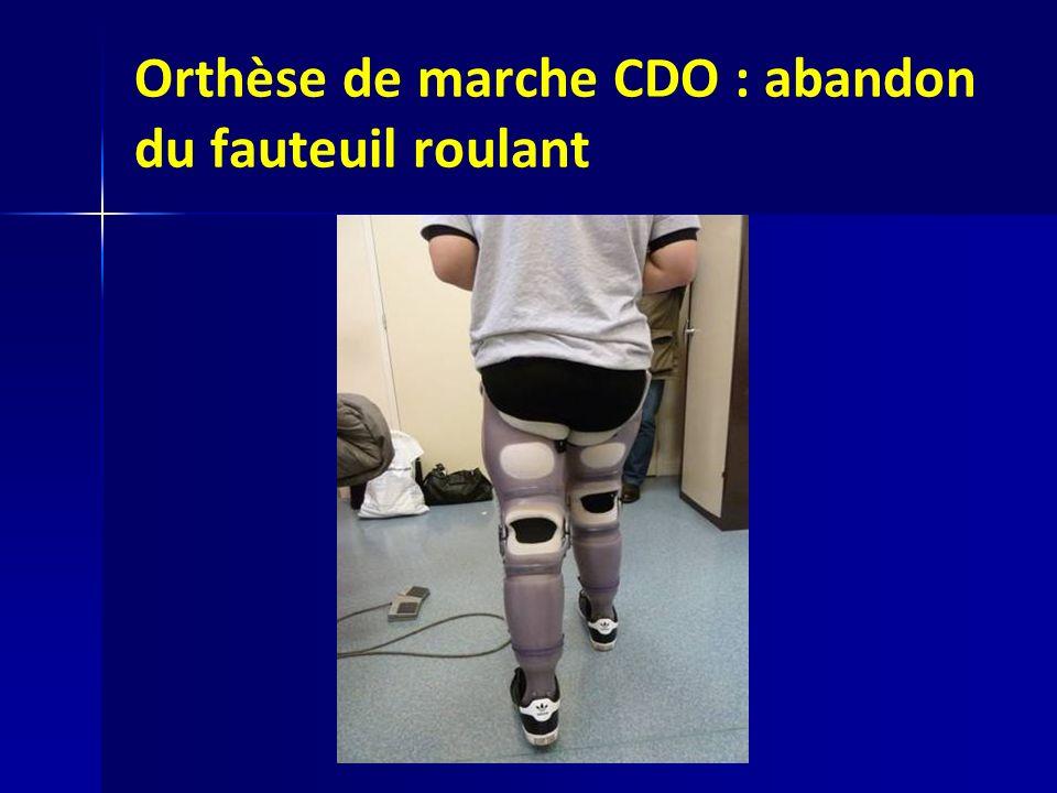 Orthèse de marche CDO : abandon du fauteuil roulant