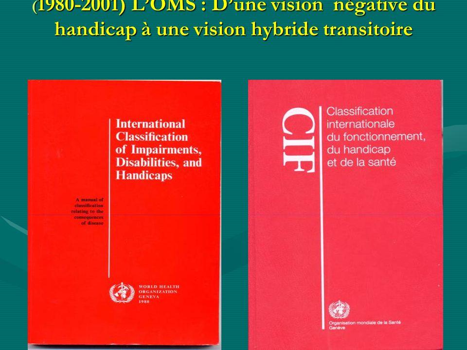 ( 1980-2001) LOMS : Dune vision négative du handicap à une vision hybride transitoire