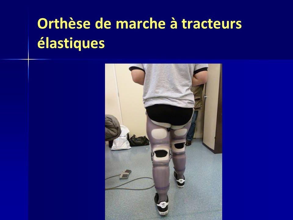 Orthèse de marche à tracteurs élastiques