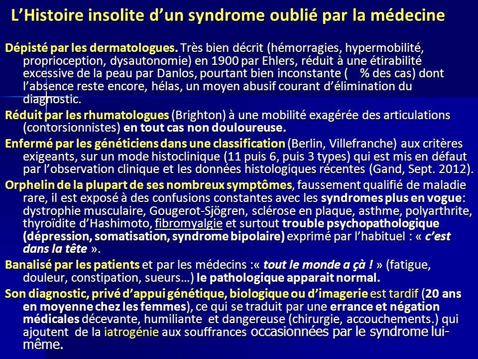 LHistoire insolite dun syndrome oublié par la médecine LHistoire insolite dun syndrome oublié par la médecine Dépisté par les dermatologues. Très bien