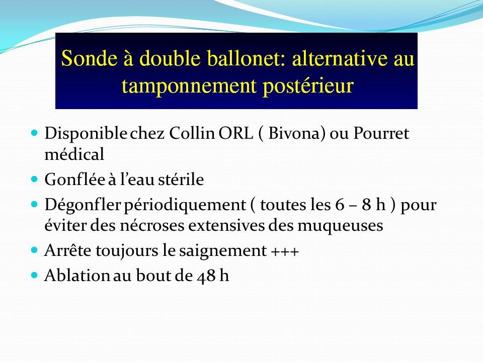 Disponible chez Collin ORL ( Bivona) ou Pourret médical Gonflée à leau stérile Dégonfler périodiquement ( toutes les 6 – 8 h ) pour éviter des nécrose