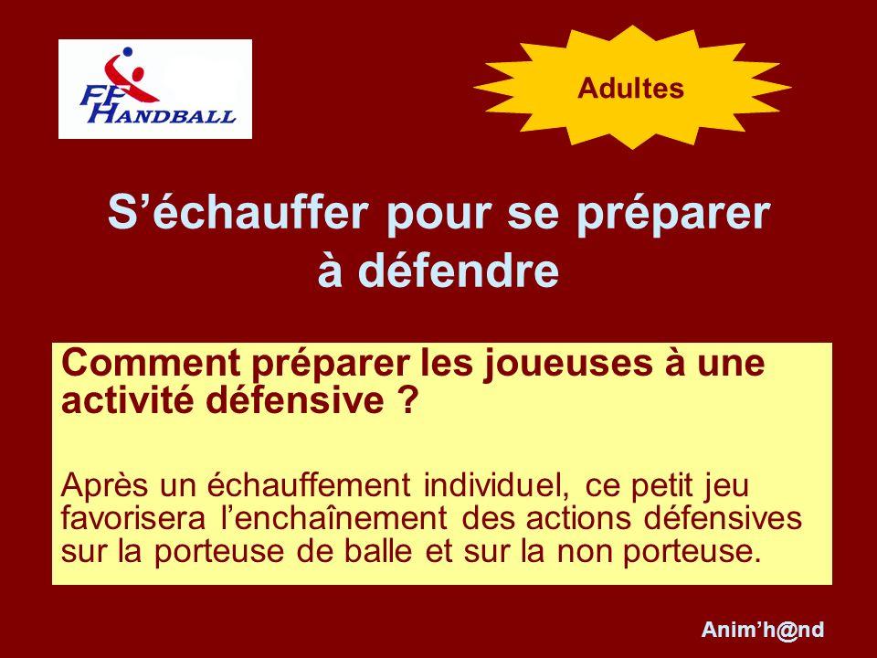Séchauffer pour se préparer à défendre Comment préparer les joueuses à une activité défensive .