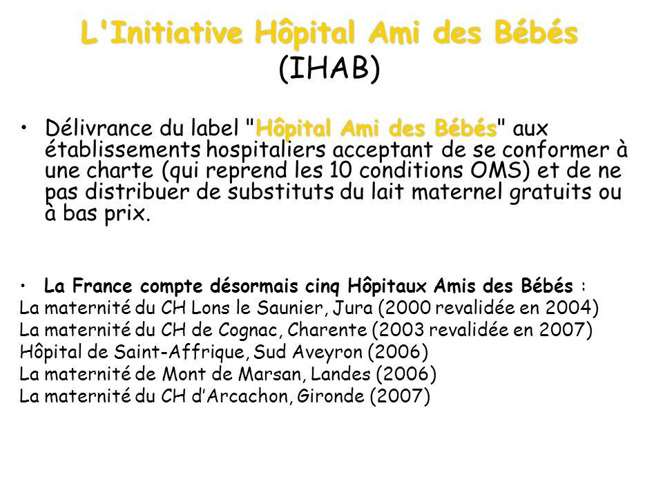 L'Initiative Hôpital Ami des Bébés L'Initiative Hôpital Ami des Bébés (IHAB) Hôpital Ami des BébésDélivrance du label