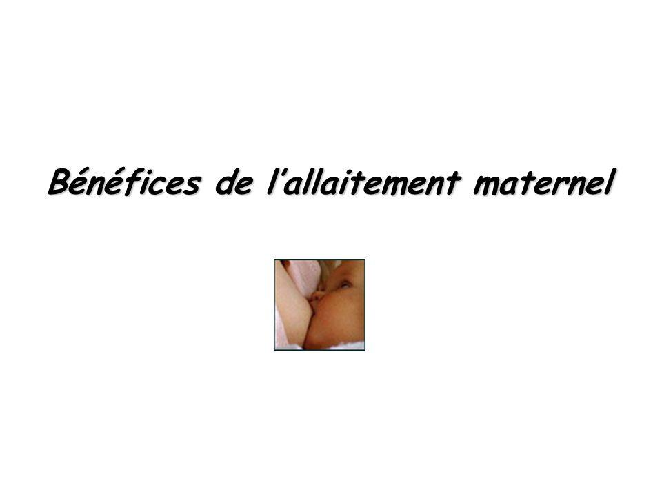Bénéfices de lallaitement maternel