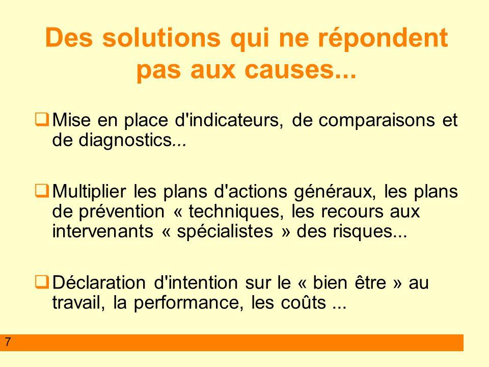7 Des solutions qui ne répondent pas aux causes...