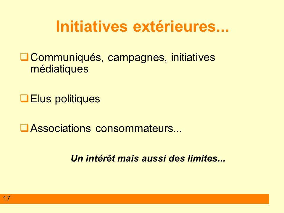 17 Initiatives extérieures...