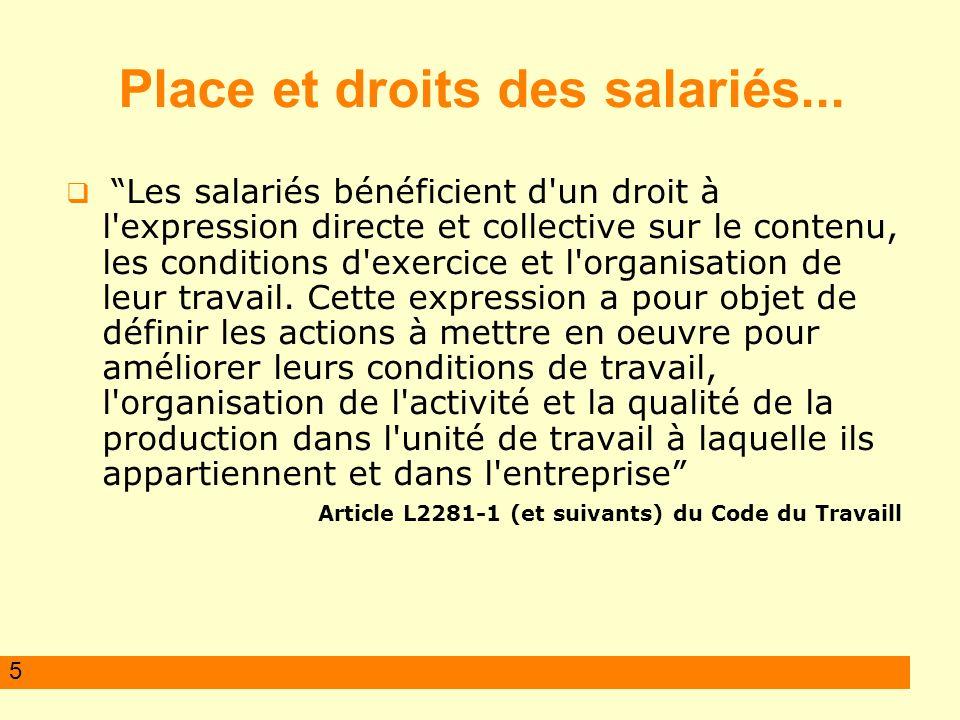 5 Place et droits des salariés...
