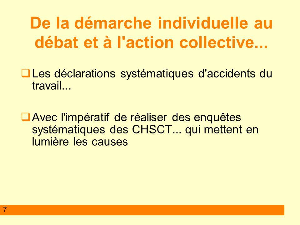 7 Les déclarations systématiques d accidents du travail...