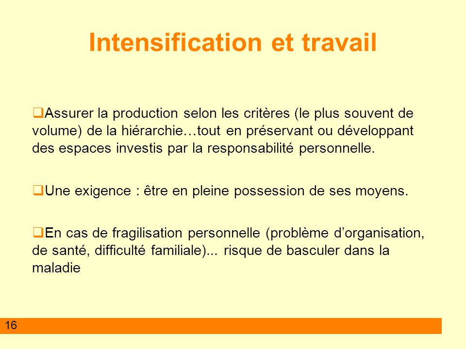 17 Effets sur le fonctionnement social Augmentation de la charge Trier dans tout ce quil faudrait faire Individualisation des stratégies Perte des repères communs Recul de lentraide et de la solidarité.