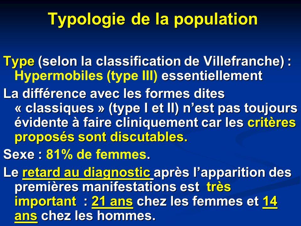 Typologie de la population Typologie de la population Type (selon la classification de Villefranche) : essentiellement Type (selon la classification d