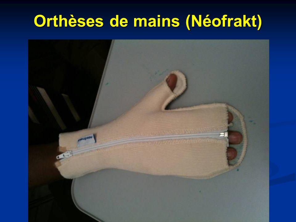 Orthèses de mains (Néofrakt)