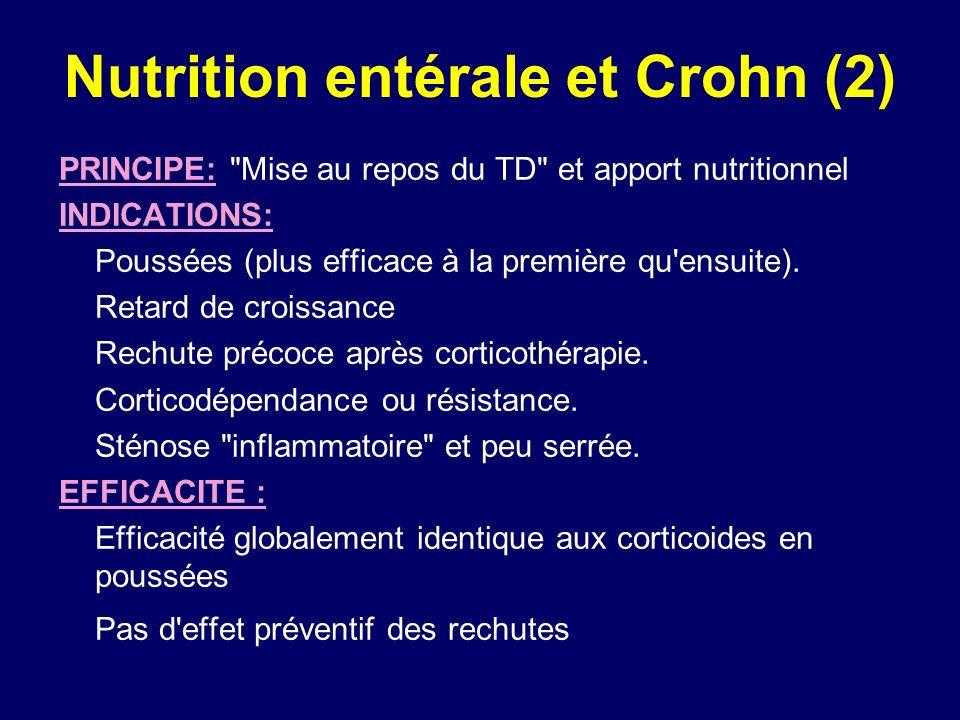 Nutrition entérale et Crohn (2) PRINCIPE:
