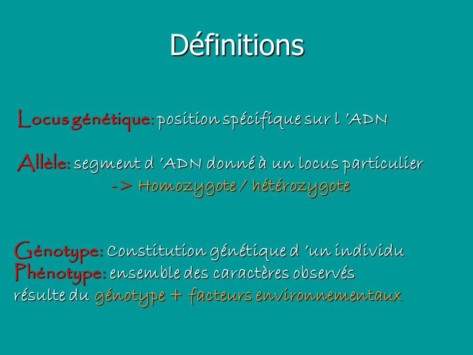 Maladies génétiques (1) Dues à une altération du génome humain (dans toutes les cellules ou une partie = mosaïque) font partie des maladies rares =fréq.