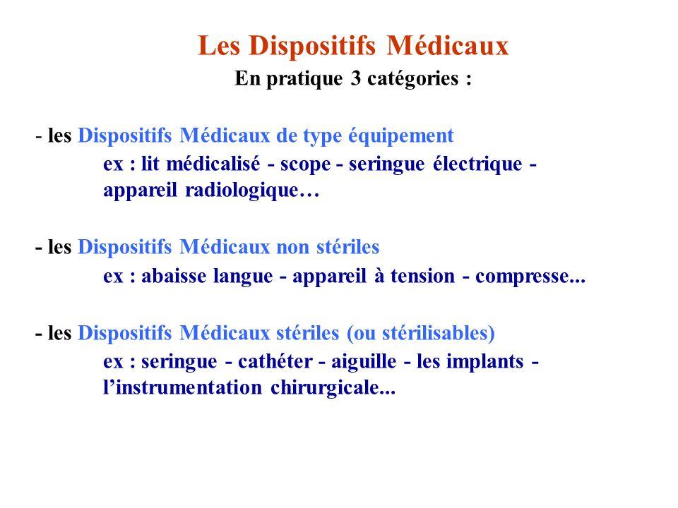 Elle sapplique à tous les dispositifs médicaux tels que définis à larticle L.5211-1 du code de la santé publique notamment : les consommables à usage