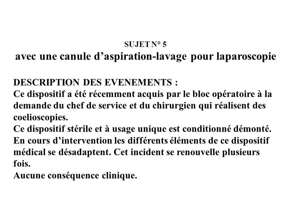 SUJET N° 4 – REPONSE ACTION DU SERVICE DECLARANT : Mise de coté du DMS avec son emballage permettant lidentification du numéro de lot Déclaration dinc