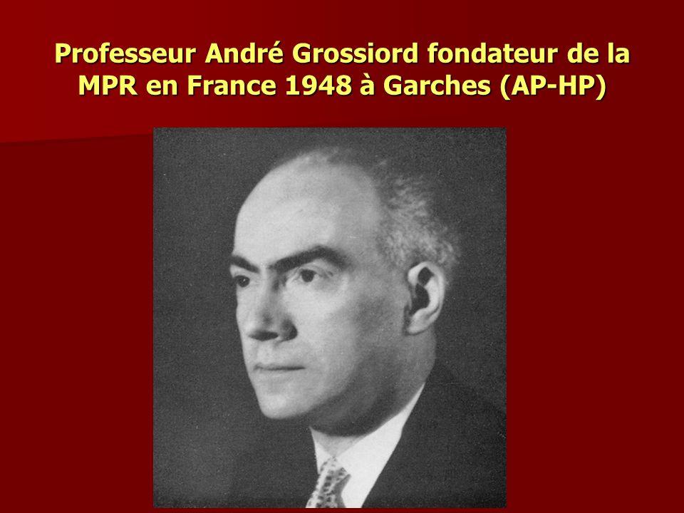 Professeur André Grossiord fondateur de la MPR en France 1948 à Garches (AP-HP)