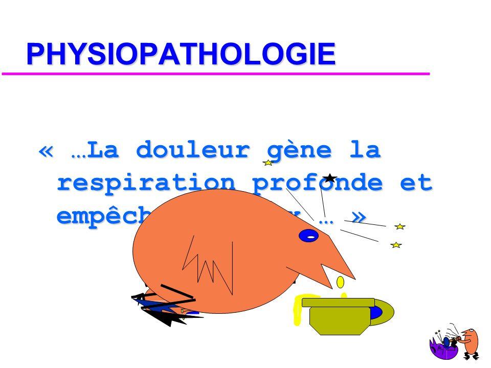 DEFINITION « …Cest une rupture dans la continuité ou la rigidité de l arche costale… » Dictionnaire !
