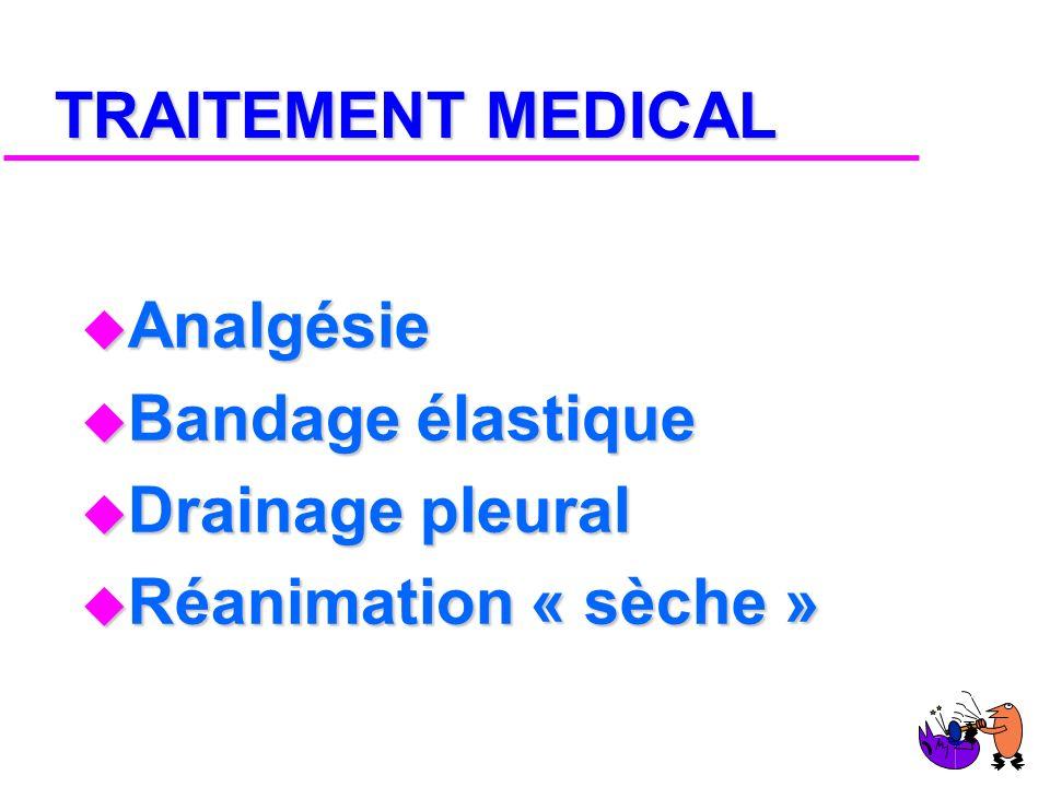 TRAITEMENT u Traitement « médical » u Suspension sternale u Ostéosynthèse costale