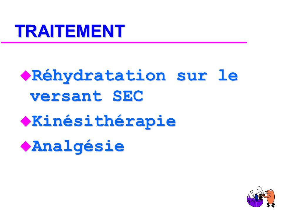 DIAGNOSTIC u Clinique : de rien à I. R. A. u Radio : de rien à SDRA
