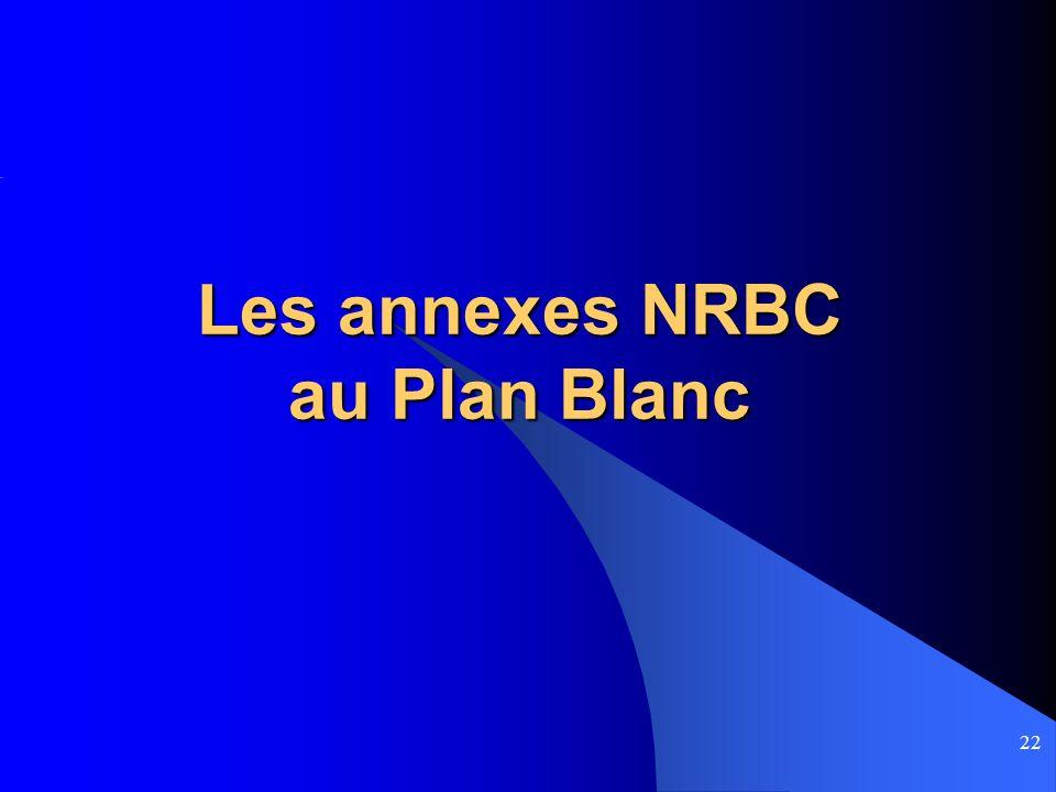 22 Les annexes NRBC au Plan Blanc