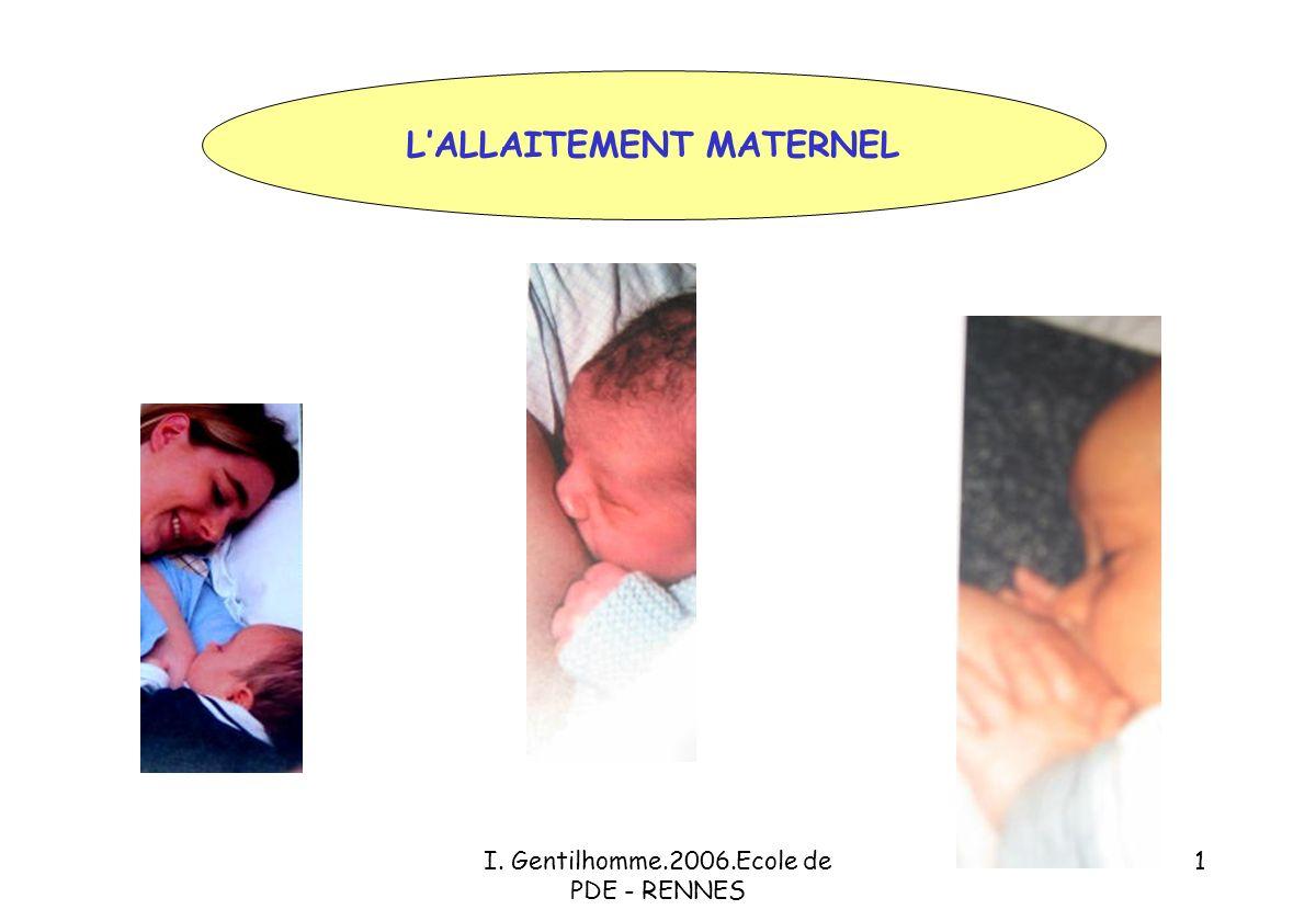 I. Gentilhomme.2006.Ecole de PDE - RENNES 1 LALLAITEMENT MATERNEL