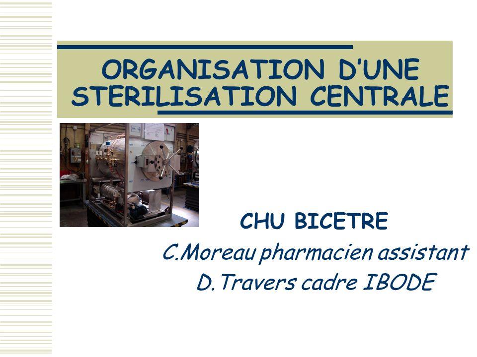 C.Moreau et D.Travers 14 décembre 2005 école IBODE PSL5 PLAN ORGANISATION GENERALE ACHATS ET APPROVISIONNEMENT MAINTENANCE TRACABILITE