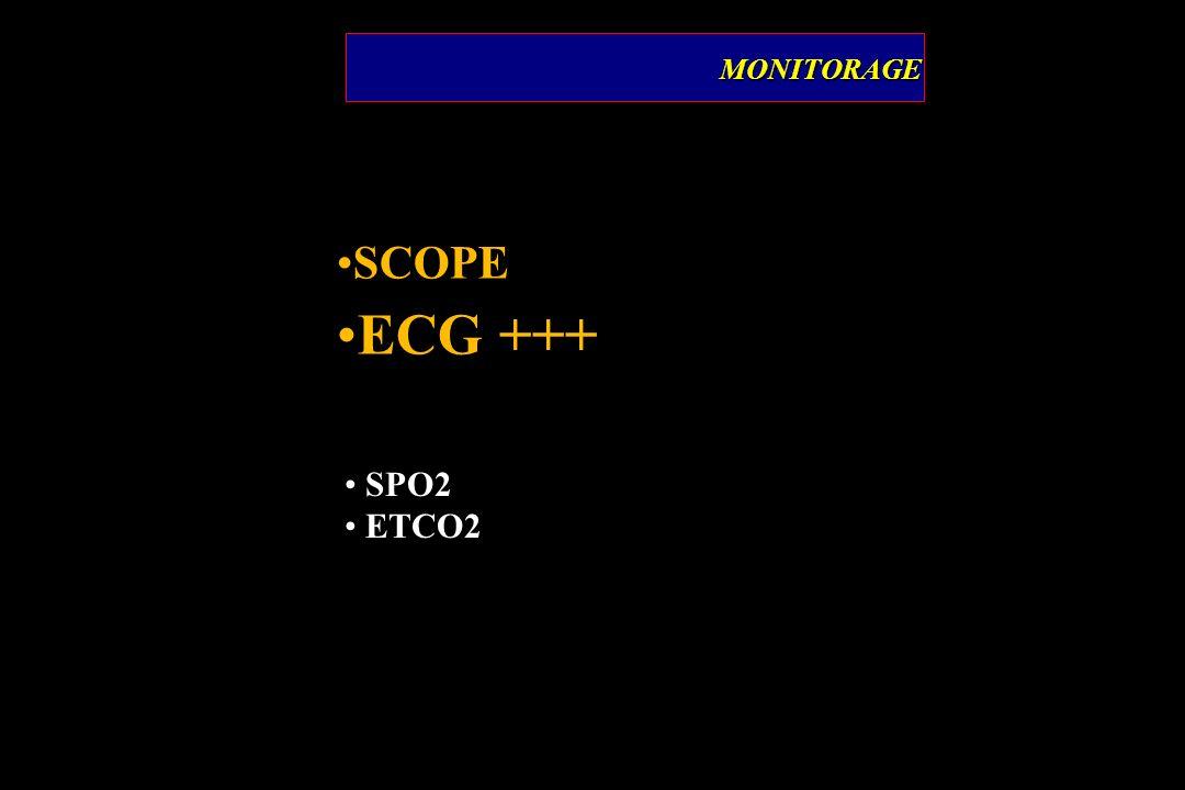 SCOPE ECG +++ MONITORAGEMONITORAGE SPO2 ETCO2