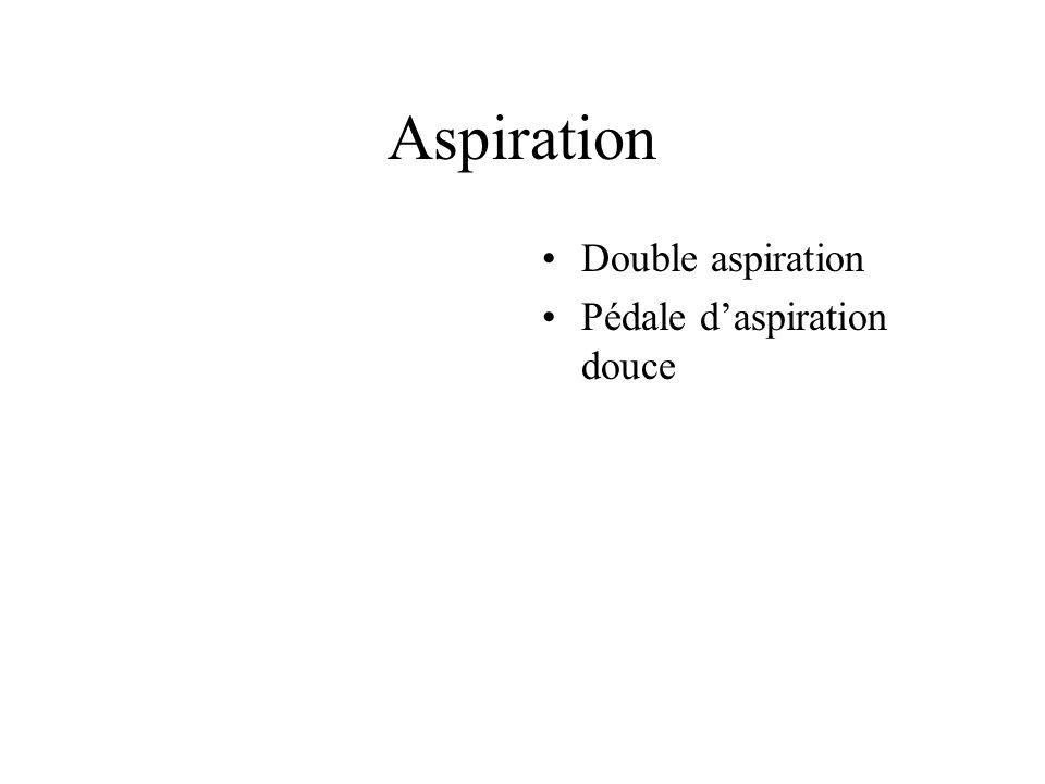 Aspiration Double aspiration Pédale daspiration douce