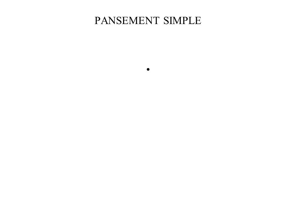 PANSEMENT SIMPLE