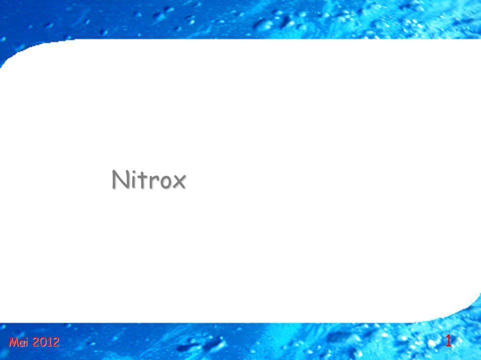 12 Le mot NITROX Nitrox est la contraction de «NITRogen» (azote en anglais) et d «OXygen».