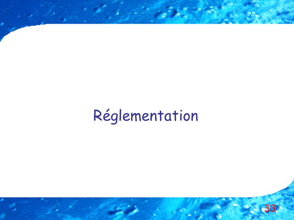 33 Réglementation