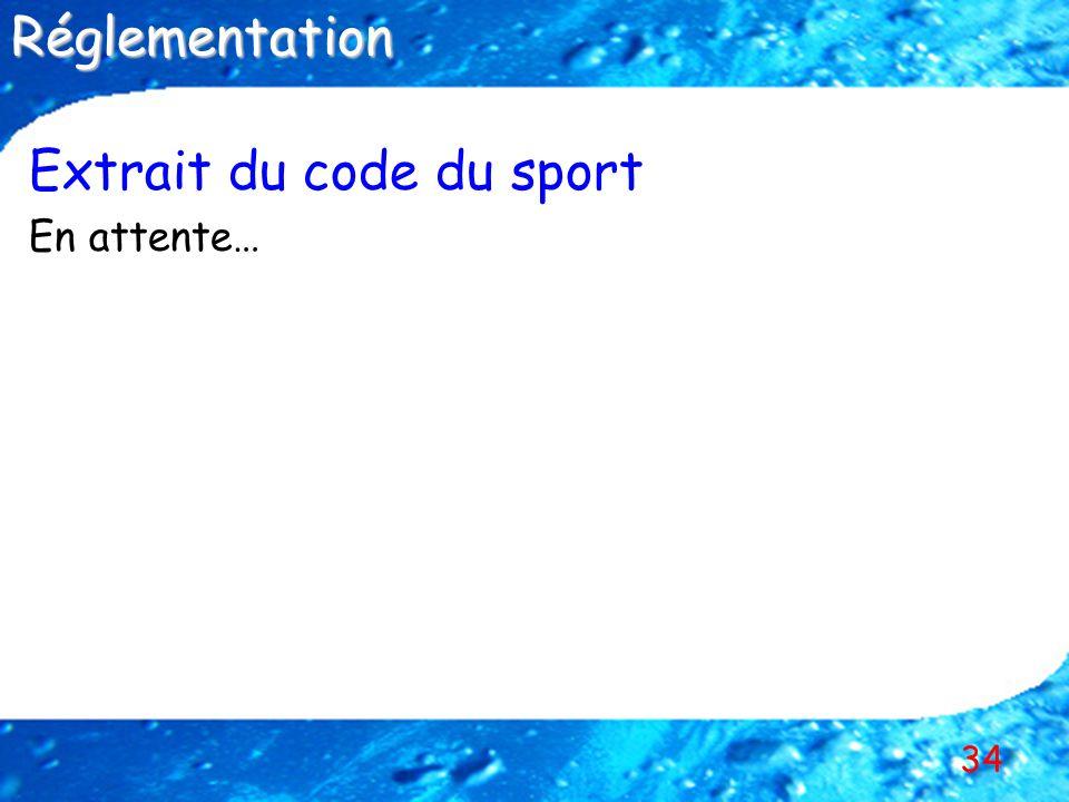 34 Extrait du code du sport En attente…Réglementation