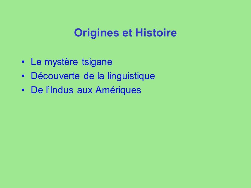 Origines et Histoire Le mystère tsigane Découverte de la linguistique De lIndus aux Amériques