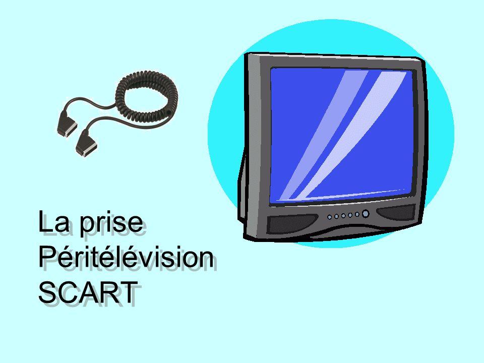 Présentation Péritel (l abréviation de péritélévision) est un connecteur audio et vidéo utilisé en Europe qui permet une connexion rapide et fiable des signaux audio et vidéo analogiques au moyen d un connecteur à 21 contacts.