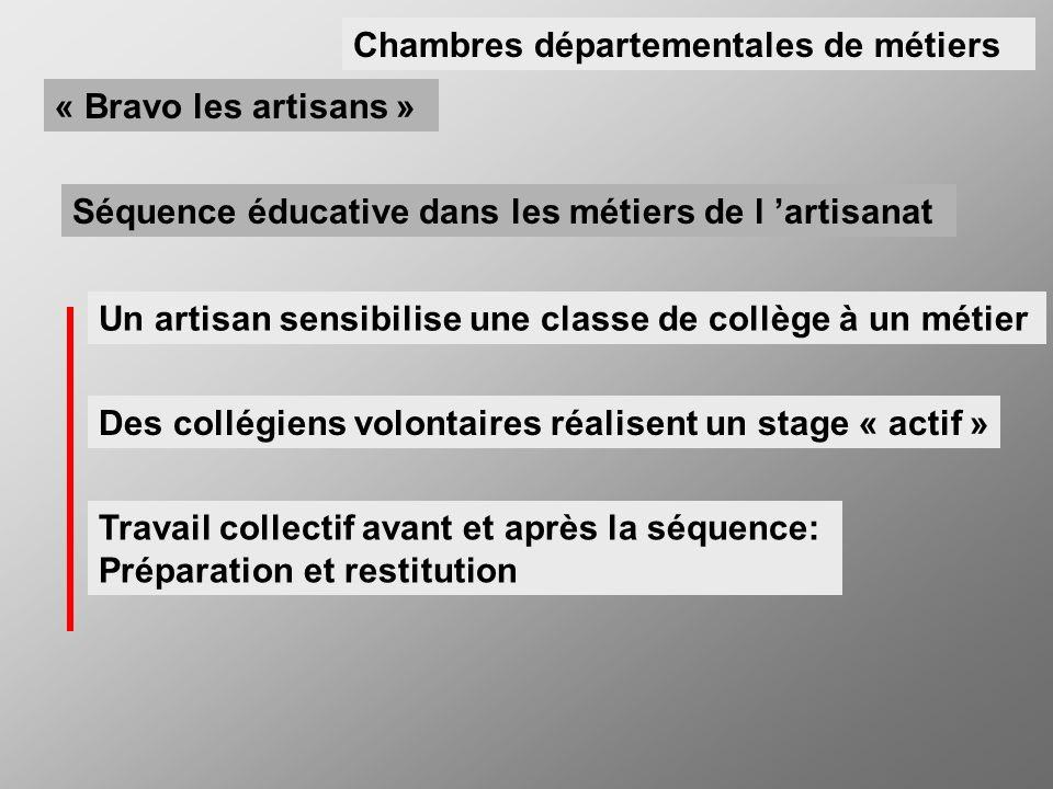 Un artisan sensibilise une classe de collège à un métier Séquence éducative dans les métiers de l artisanat Des collégiens volontaires réalisent un st