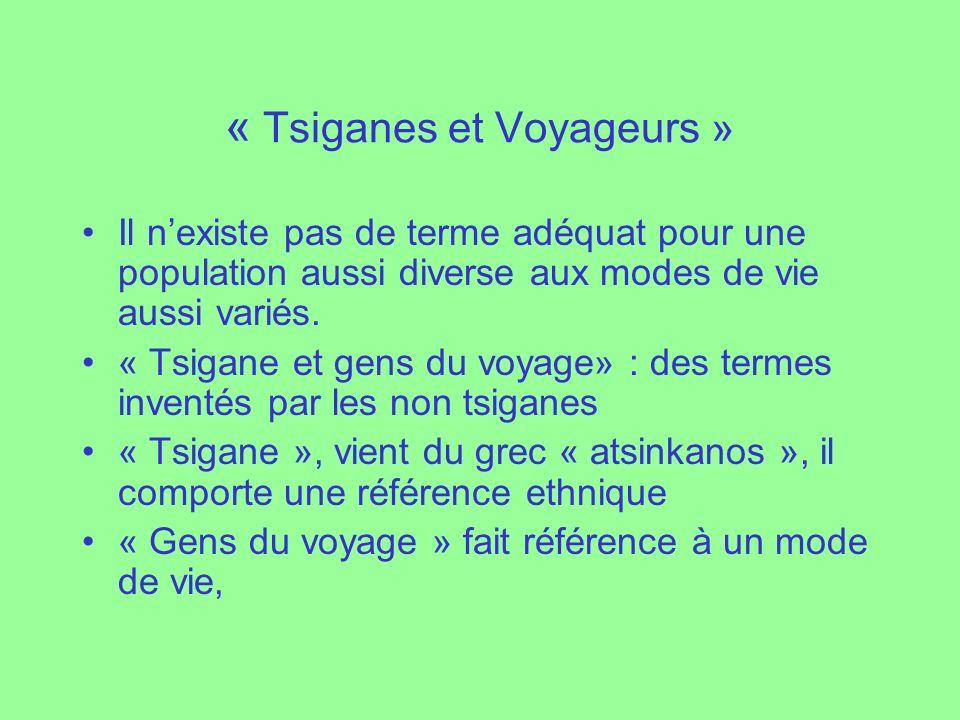 « Tsiganes et Voyageurs » Il nexiste pas de terme adéquat pour une population aussi diverse aux modes de vie aussi variés. « Tsigane et gens du voyage