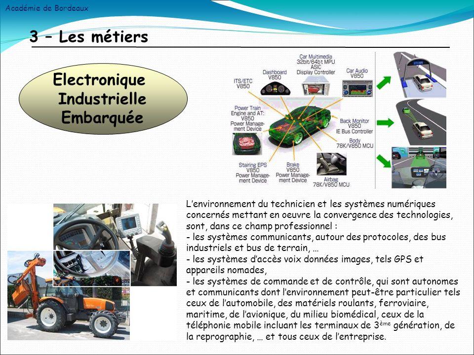 4 – Les objectifs pédagogiques Gestion de flotte de véhicules par GPS et GSM Préparation des matériels Installation Configuration Mise en route Maintenance Organisation Académie de Bordeaux