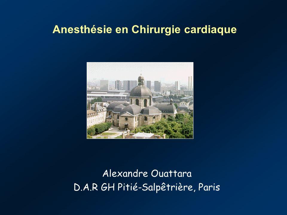 Alexandre Ouattara D.A.R GH Pitié-Salpêtrière, Paris Anesthésie en Chirurgie cardiaque