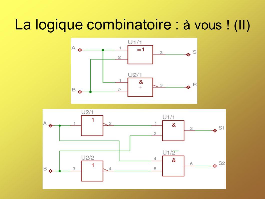 La logique combinatoire : à vous ! (II)