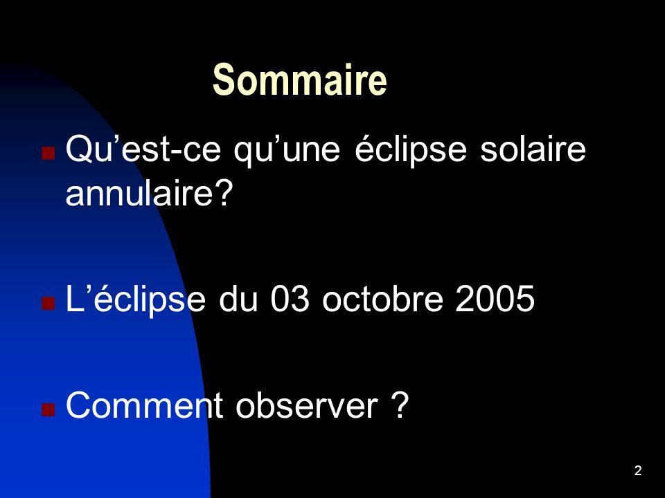 3 Quest-ce quune éclipse solaire.