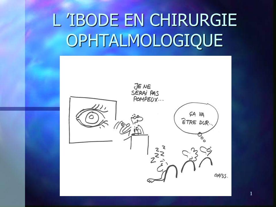 POTOT J. BLOC OPH1 L IBODE EN CHIRURGIE OPHTALMOLOGIQUE