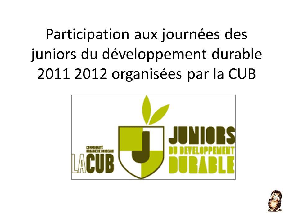 La journée de valorisation: les juniors du développement durable