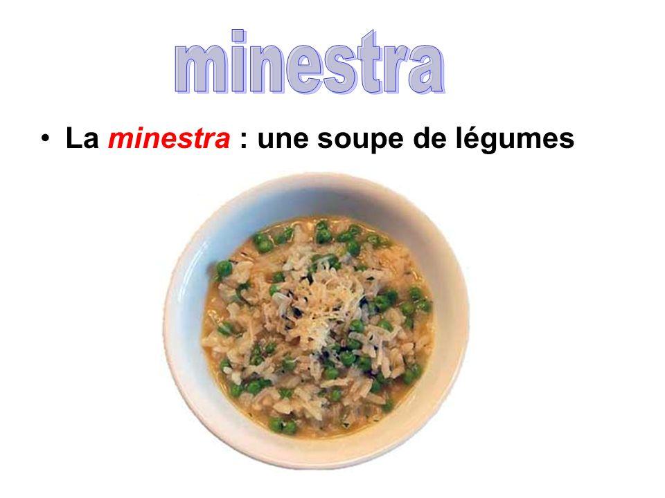 La minestra : une soupe de légumes
